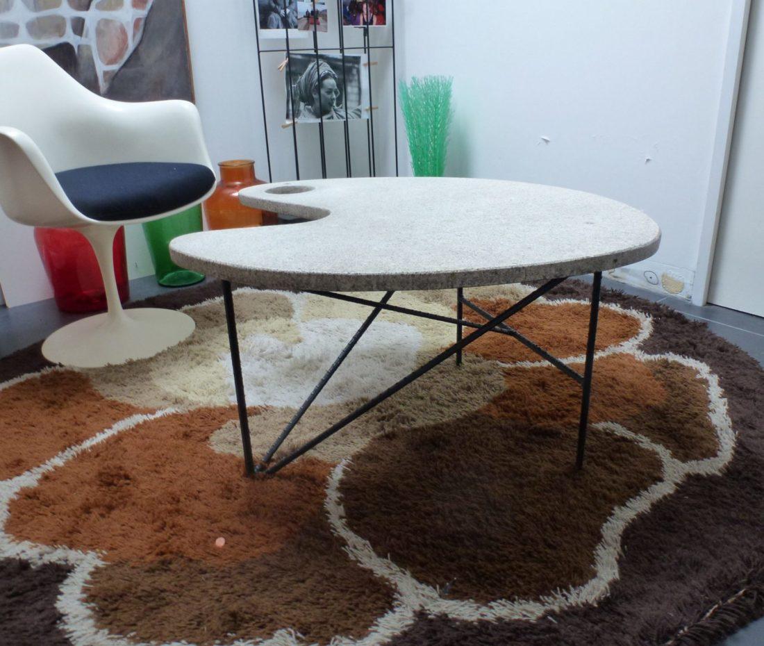 L 39 attrape coeur jolie forme de palette de peintre pour - Table en pierre reconstituee ...